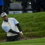 Tiger Woods sort du bunker
