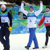 Le Français s\'apprête à monter sur le podium en compagnie du Suédois Emil Svendsen et du Croate Jakov Fak