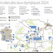 La carte des sites olympiques