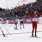 Arrivée skiathlon
