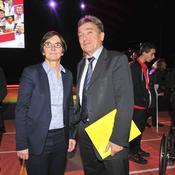 Valerie Fourneyron - ministre des sports / Thierry Maudet - directeur general de l'Insep
