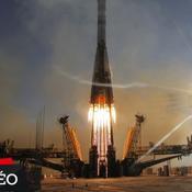 La torche olympique vers l'espace
