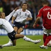 Angleterre-Allemagne: David Beckham-Frank Lampard-Pander