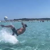 A Saint-Tropez, Ibrahimovic rejoue le but de l'année 2013 face à l'Angleterre