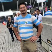 «Bak-San» avec le maillot de l'Argentine