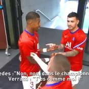 «Combien de buts toi Marco ?» : entre bonne ambiance et chambrage au PSG