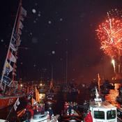 Hallyday, feux d'artifice et Ave Maria : les Sables d'Olonne ont toujours fêté les héros du Vendée Globe
