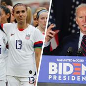 Joe Biden soutient les joueuses américaines dans leur combat pour l'égalité salariale