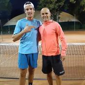 Benjamin Nivet et son dernier adversaire, Paul Dufour