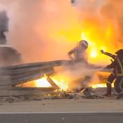 Romain Grosjean lance un appel pour retrouver le sapeur-pompier qui l'a sauvé