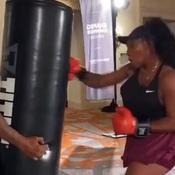 Serena Williams s'essaie à la boxe avec Mike Tyson