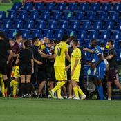 Liga : Villarreal-Getafe se termine en bagarre, la police intervient sur le terrain