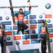 Biathlon: Fourcade vainqueur, magnifique quadruplé des Français