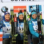 Yuliia Dzhima, Justine Braisaz et Julia Simon