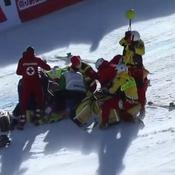 Terrible chute d'Urs Kryenbühl à 145 km/h à Kitzbühel, Johan Clarey accuse les organisateurs