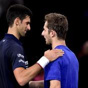 Novak Djokovic et Corentin Moutet