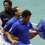 Gaël Monfils, Michaël Llodra et Jo-Wilfried Tsonga Coupe Davis