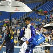 Djokovic parapluie