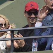 Djokovic vient serrer la main d'Ibra dans les tribunes