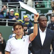 David Ferrer et Usain Bolt