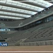 Les images du nouveau toit du court central de Roland-Garros (vidéo)