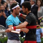 Marco Cecchinato et Novak Djokovic