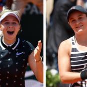 Roland-Garros: Anisimova et Barty créent la surprise en quarts de finale