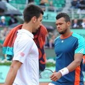 Novak Djokovic et Jo-Wilfried Tsonga
