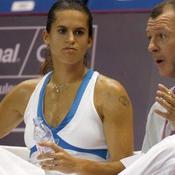 Amélie Mauresmo et Loïc Courteau