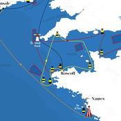 Le parcours de la Solitaire Urgo-Le Figaro 2019