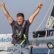 Solitaire du Figaro: Fred Duthil touche le jackpot au bout d'une 3e étape de folie