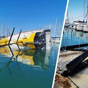 Transat Jacques Vabre : Le bateau de Kito De Pavant démâte au port
