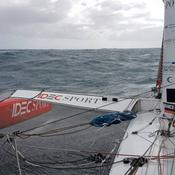 Le dernier jour de navigation à bord d'Idec Sport