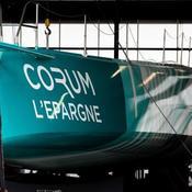 Troussel met enfin à l'eau son bateau «futuriste» pour le Vendée Globe