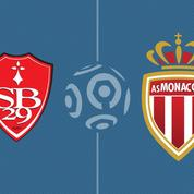 Monaco s'incline face à Brest