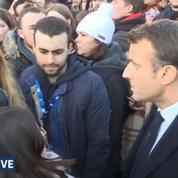 Macron à Amiens : face aux étudiants à l'université de Picardie