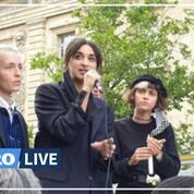 Paris: Camélia Jordana chante lors du rassemblement en hommage à George Floyd