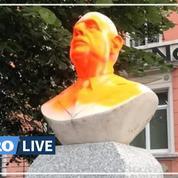 «Esclavagiste», maculé d'orange… un buste du général De Gaulle tagué dans le Nord