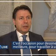 Italie: les fonds européens sont «l'occasion pour dessiner une Italie meilleure» d'après Guiseppe Conte