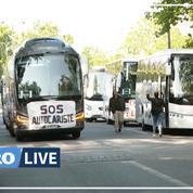 «SOS autocaristes»: des conducteurs manifestent en attendant les touristes
