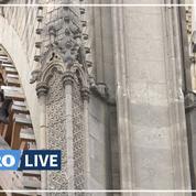 Notre-Dame de Paris: les cordistes sont à l'oeuvre pour démonter l'échafaudage