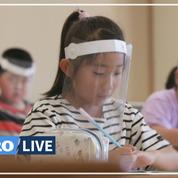 Une école japonaise choisit la visière de protection, une option «plus respirable que le masque»