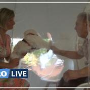 Dans un Ehpad, une bulle permet aux visiteurs de renouer le contact avec les aînés
