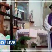 Un prêtre italien active les filtres Facebook en pleine messe en direct