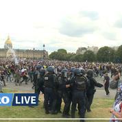 Paris: des échauffourées éclatent en marge de la manifestation des soignants