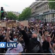 Un manifestant insulte Eric Zemmour lors de la manifestation contre les «violences policières»