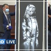 Banksy: l'oeuvre en hommage aux victimes du Bataclan retrouvée en Italie et dévoilée à la presse