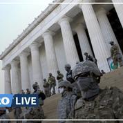 Près de la Maison Blanche, la garde nationale se met en place avant la manifestation contre les violences policières