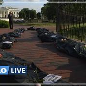 États-Unis: fausse procession funéraire pour dénoncer «l'inaction» de Trump