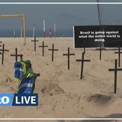 Brésil: 100 tombes creusées sur la plage de Copacabana en hommage aux victimes du Covid-19